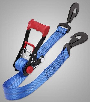 "SpeedStrap 2"" x 8"" Ratchet Tie-Down, with Twisted Snap Hooks"