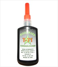Woodward Race Products WRP T-71 Threadlocker - Red/High Strength- 10ml