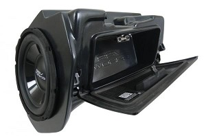 "SSV Works Polaris RZR 1000/900 & Turbo Weatherproof Glove Box Sub With Amplified 10"" Subwoofer"