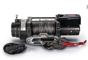 Warn W97740 16.5ti-S Winch with Spydura Pro Synthetic Rope and Polished Aluminum Hawse Fairlead, 16,500 lbs, 12V