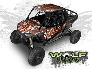 Wolf Designs UTV Wraps - WD2B-015 POLARIS XP1K WRAP KIT