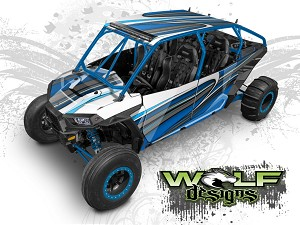 Wolf Designs UTV Wraps - WD4B-009 POLARIS XP4 1K WRAP KIT