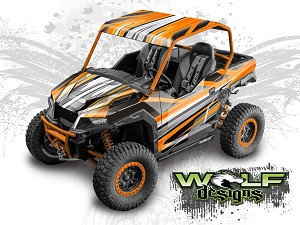 Wolf Designs UTV Wraps -WD-GNRL2A-007 POLARIS GENERAL WRAP KIT