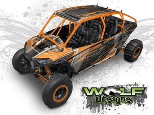 Wolf Designs UTV Wraps - WD4B-008 POLARIS XP4 1K WRAP KIT