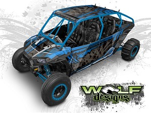 Wolf Designs UTV Wraps - WD4B-011 POLARIS XP4 1K WRAP KIT