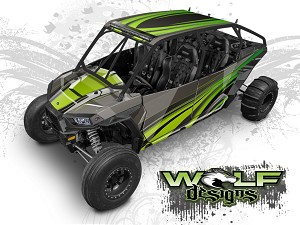 Wolf Designs UTV Wraps -WD4A-005 POLARIS XP4 1K WRAP KIT