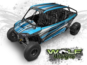 Wolf Designs UTV Wraps - WD4A-006 POLARIS XP4 1K WRAP KIT